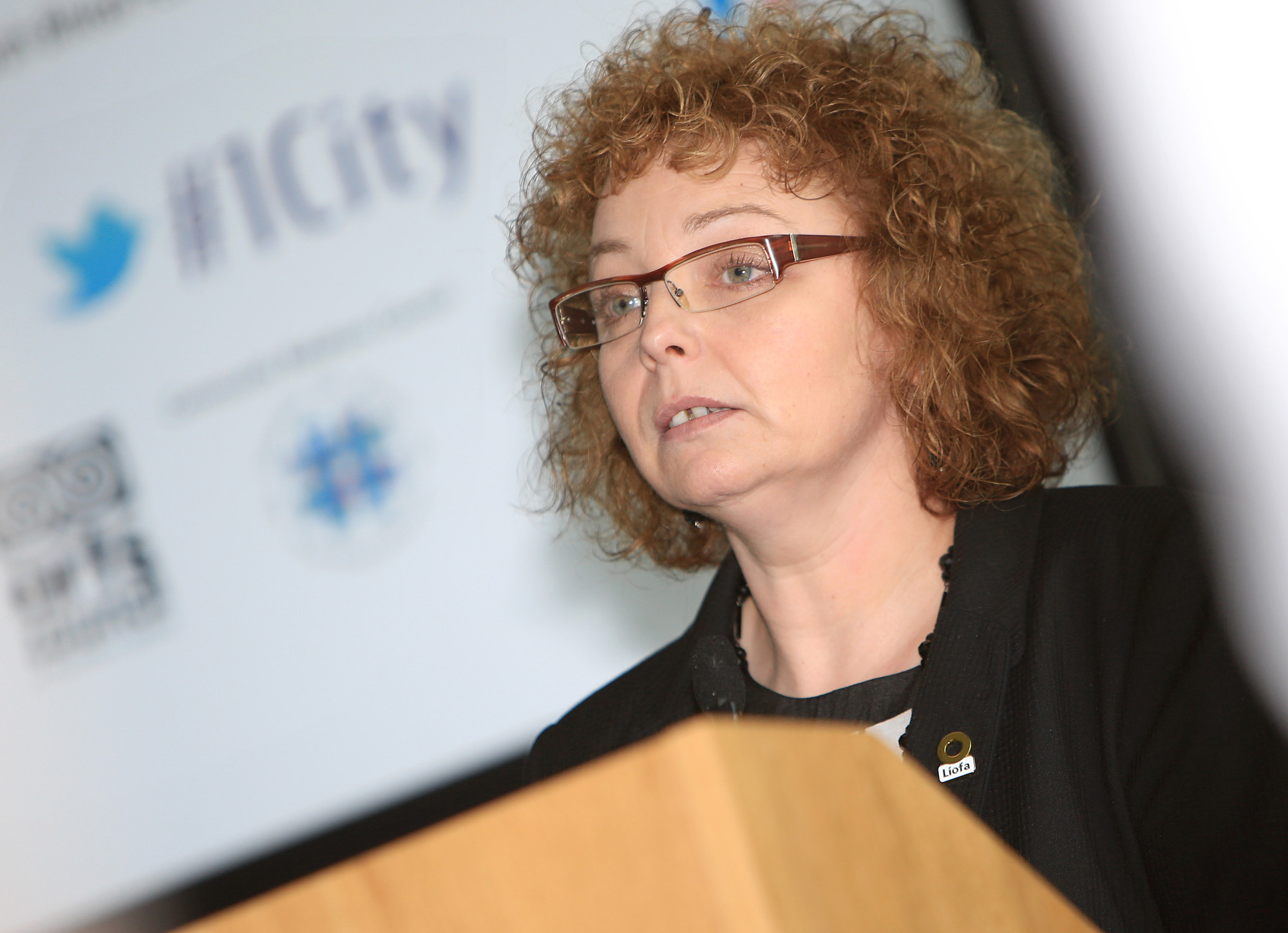 Belfast MET E3, One City Conference 'Lifting the City'. pictured: Caral Ni Chuilin MLA 95JC13