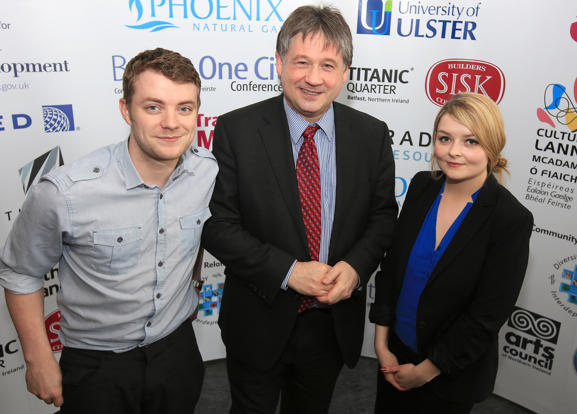 Belfast MET E3, One City Conference 'Lifting the City' . pictured: Niall Greer (West Belfast Partnership), Basil McCrea MLA and Ruth McGennis (West Belfast Partnership) 95JC13