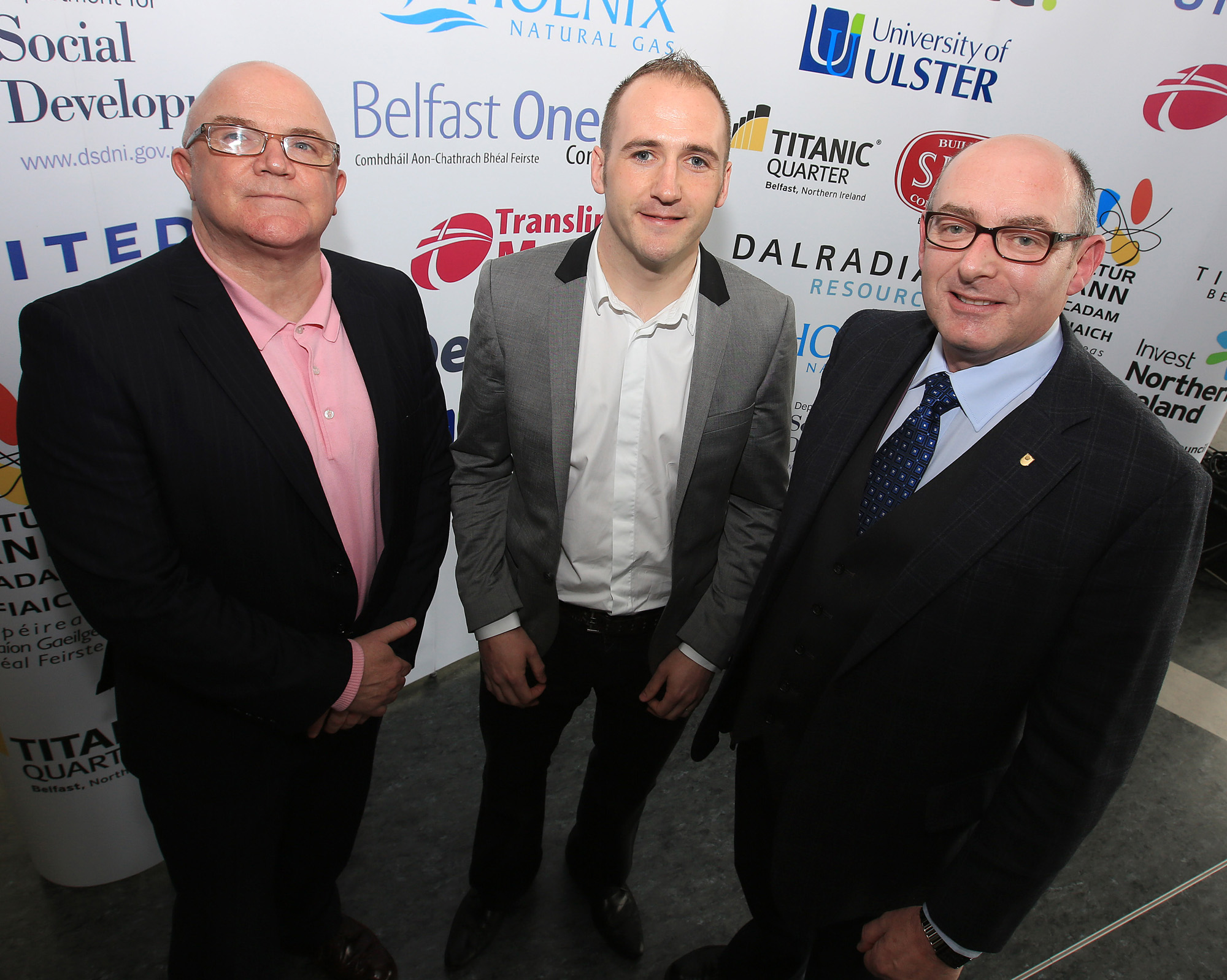 Belfast MET E3, One City Conference 'Lifting the City' . pictured: Stuart Bailie (Oh Yeah Music Centre, BBC), Kevin Gamble (Feile) and John D'Arcy (Open University) 95JC13