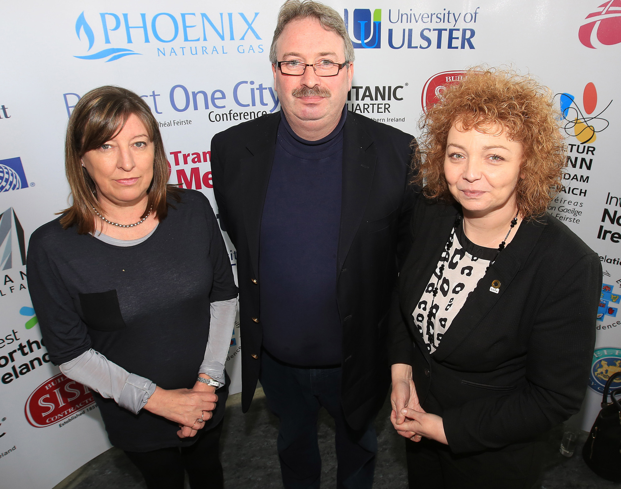 Belfast MET E3, One City Conference 'Lifting the City'. pictured: Caral Ni Chuilin MLA, Mary Carlin and Stephen McMurrough 95JC13