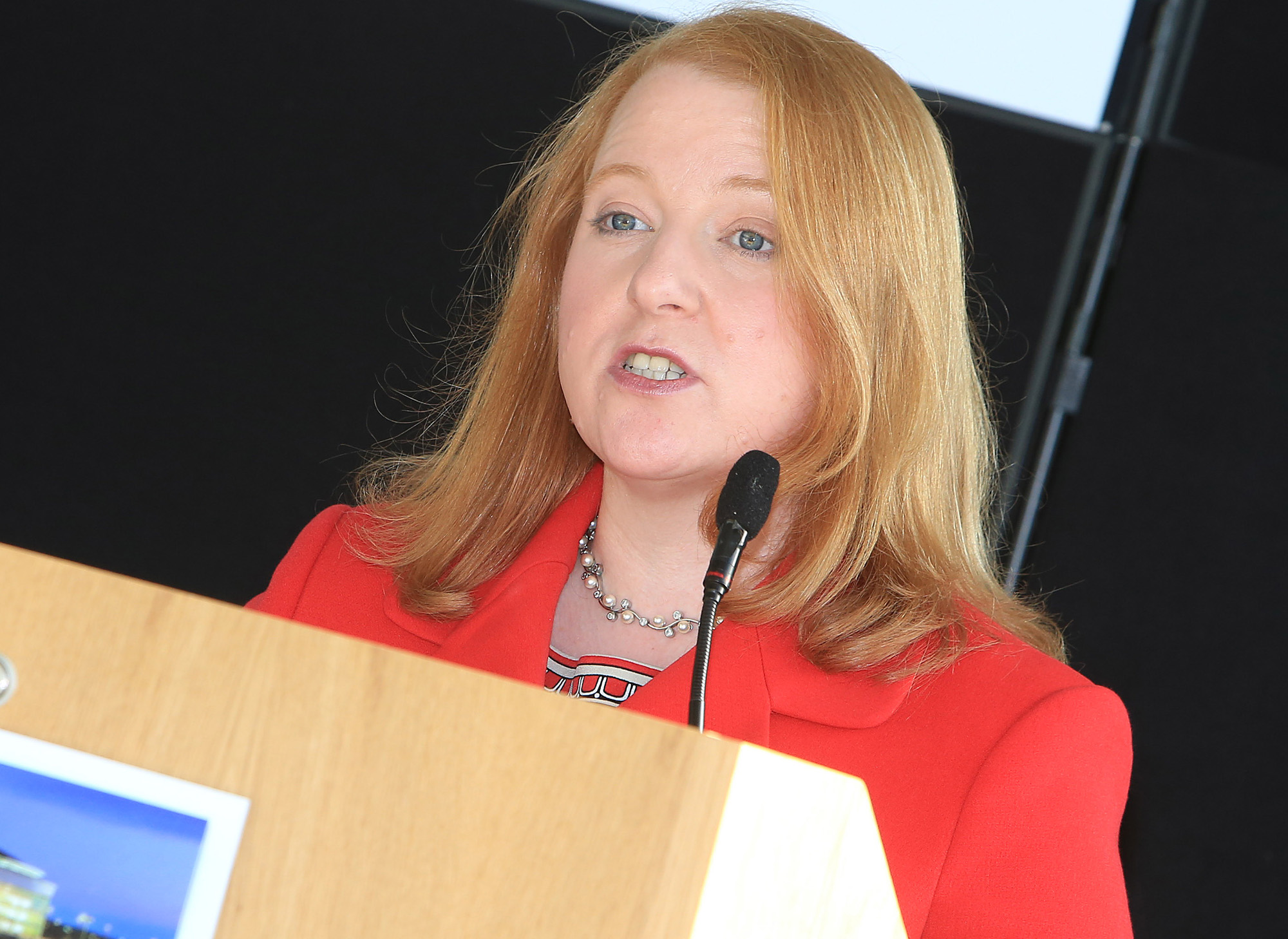 Belfast MET E3, One City Conference 'Lifting the City'. pictured: Naomi Long MP (Alliance) 95JC13