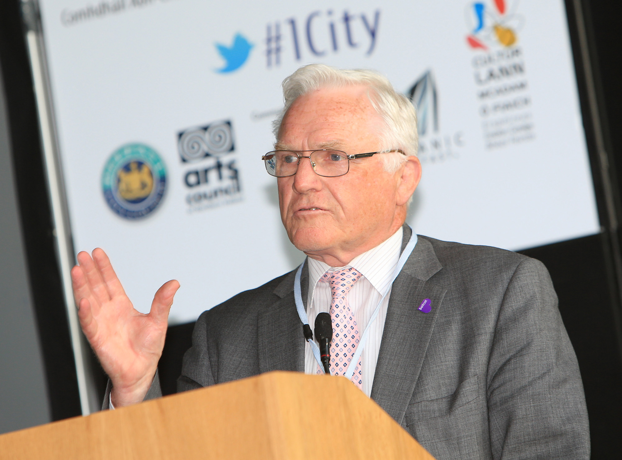 Belfast MET E3, One City Conference 'Lifting the City' . pictured: Alderman Tom Ekin 95JC13