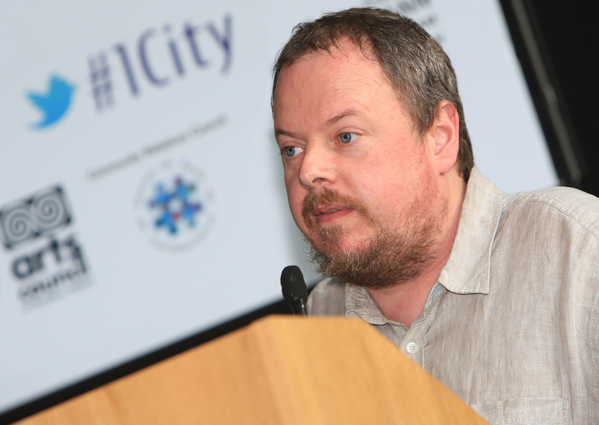 Belfast MET E3, One City Conference 'Lifting the City' . pictured: Mark Hackett (Forum for an Alternative Belfast) 95JC13