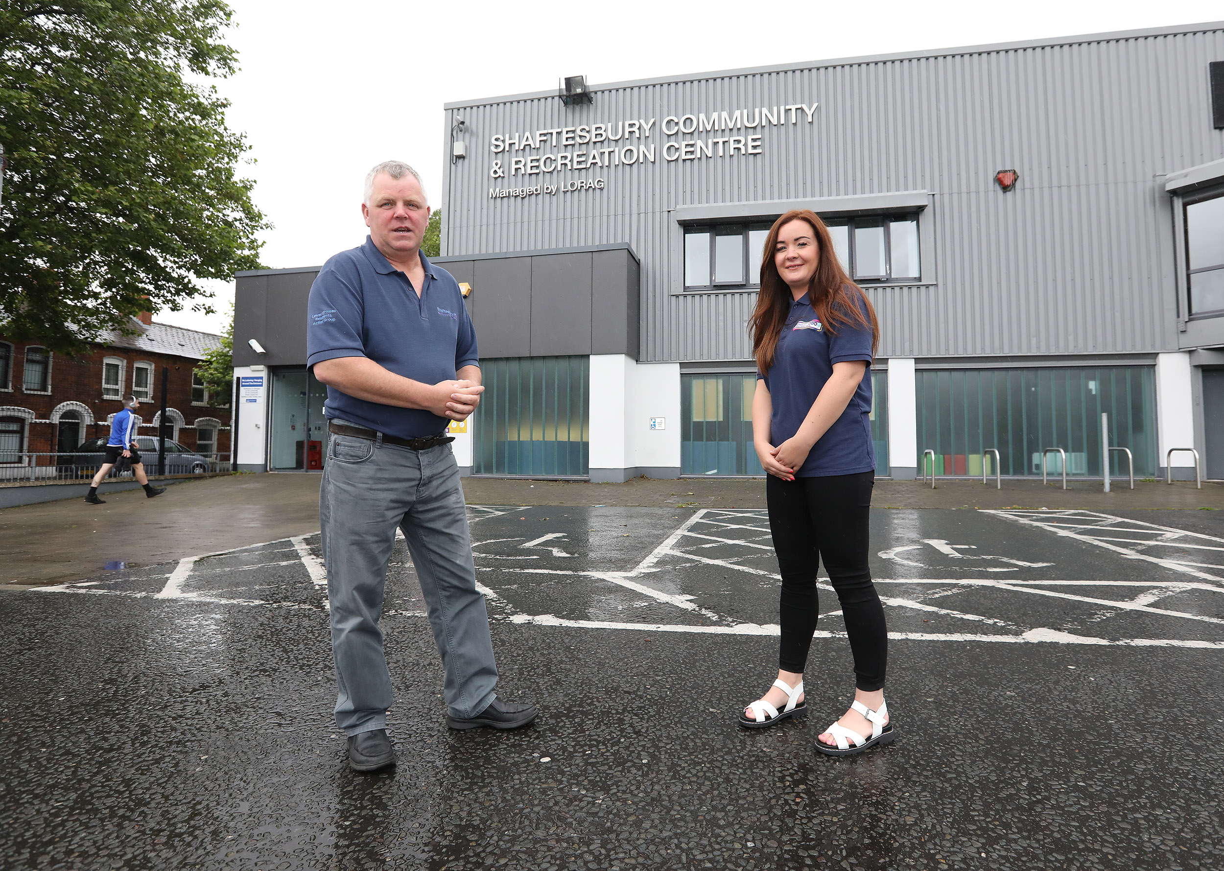 PLAY YOUR PART: Gerard Rice and Natasha Brennan say it\'s key to keep users safe from Covid as centre reopens.